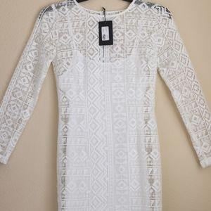 J.O.A. Los Angeles White Lace Dress
